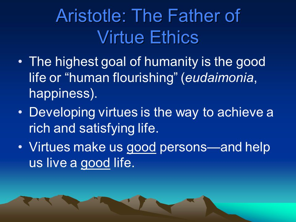 aristotle concept of eudaimonia Eudaimonia (εὐδαιμονία) is a state variously translated from this is one way the virtue ethicist can re-introduce the concept of the morally.