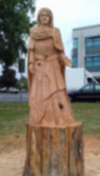 Fear na Coillte Chainsaw Sculptures St Eidin, Carrick-on-Shannon, Ireland