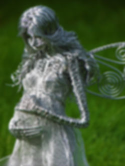 Wired to the Moon Unique Wire Sculptures Pregnant Fairy
