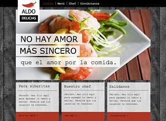 Servicio de banquetes Template - Crea un sitio web para tu restaurante o servicio de banquetes que sea tan fresco como tus ingredientes. Sube imágenes a la galería de fotos y al menú para resaltar tus platos con exquisitos detalles. Juega con los colores y agrega texto para crear una página web merecedora de tus creaciones culinarias.