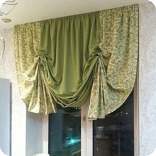 австрийские шторы фото на окнах