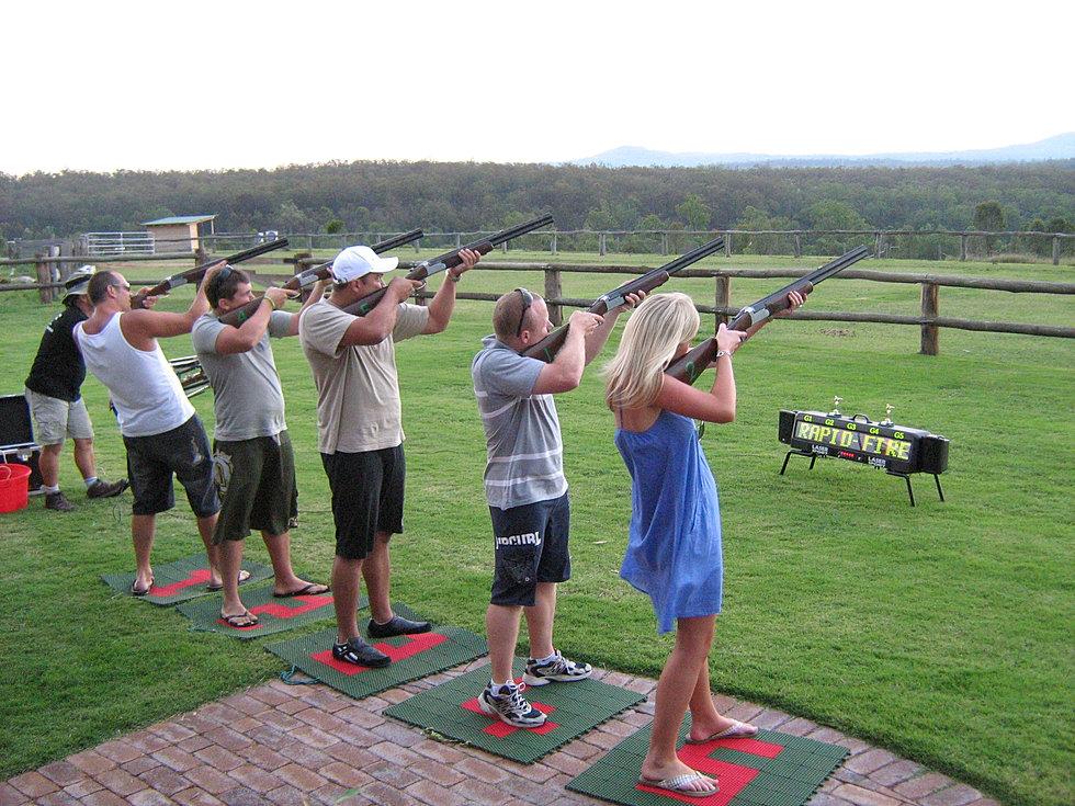 Laser Clay Target Shooting