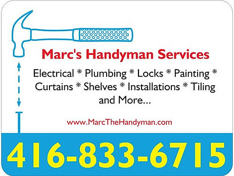 marc 39 s handyman services in downtown toronto hire me as a handyman. Black Bedroom Furniture Sets. Home Design Ideas