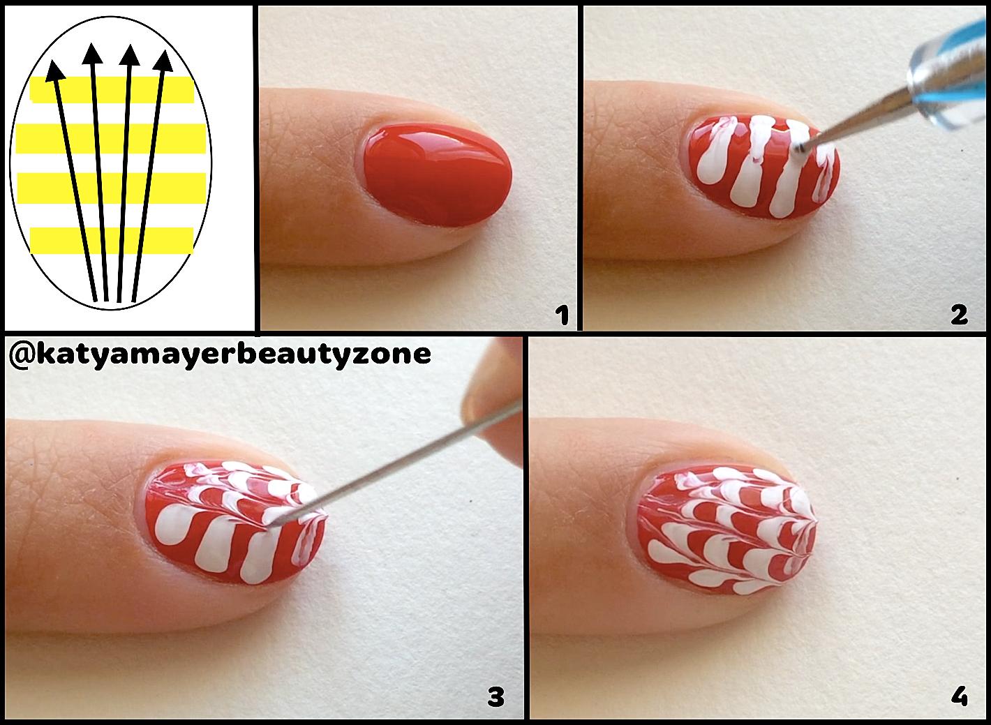 Как сделать рисунки шеллаком на ногтях? Фото и дизайны 76
