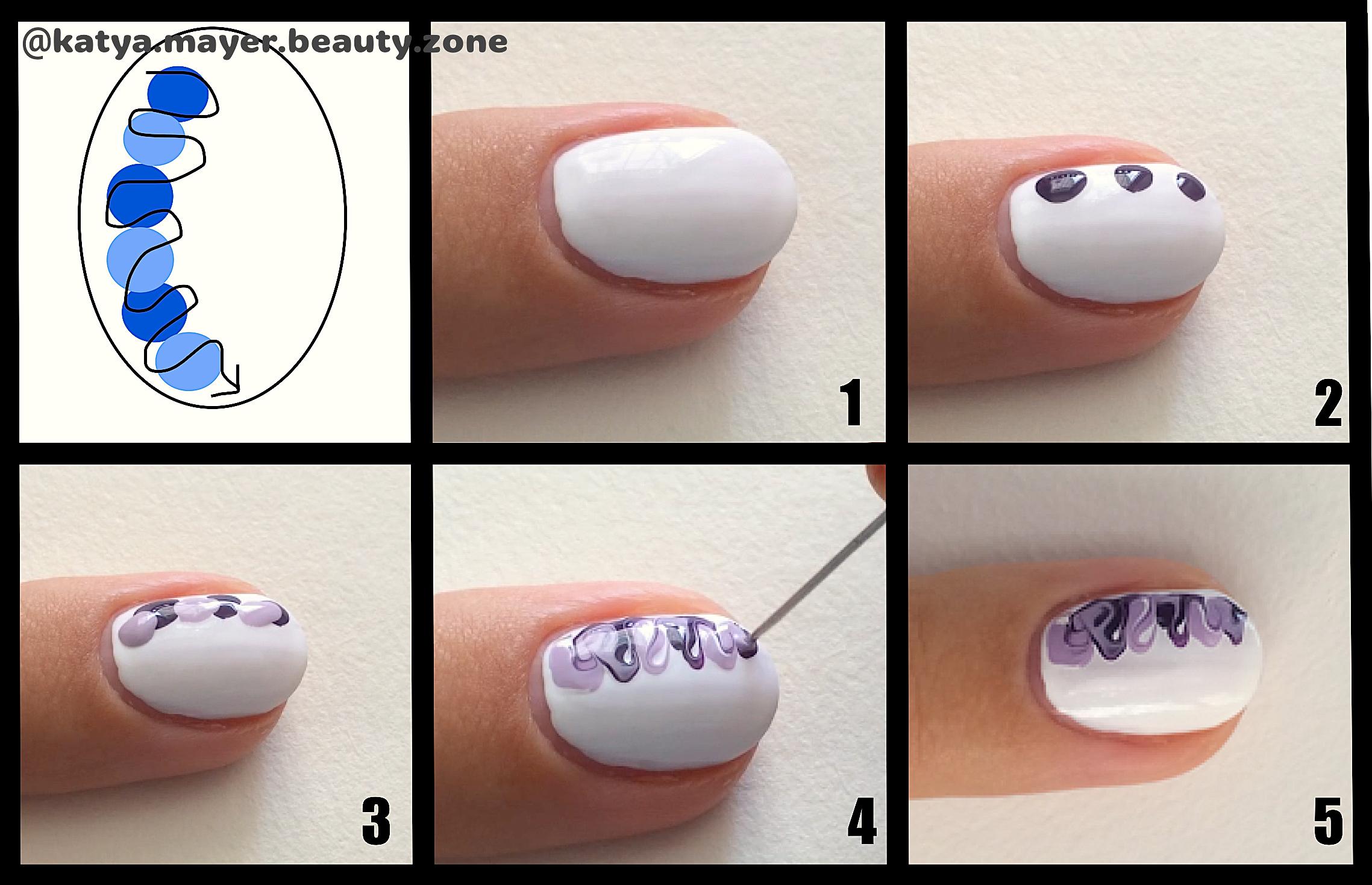 Как рисовать на ногтях самой фото пошагово