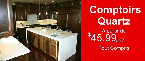 Comptoirs cuisine et salle de bain granite quartz marbre for Cuisine tout compris