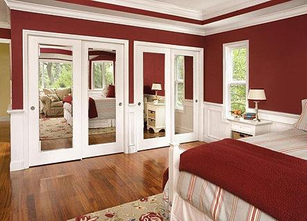 Impression Mirror Bifolding Closet Doors (Molded Bifold Bostonian).jpeg & Jeld Wen | Bennett Glass Company pezcame.com
