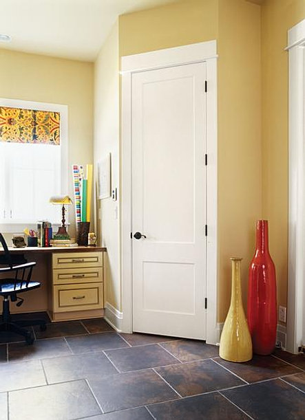 Attractive Eight Foot, Two Panel Painted Wood Composite Interior Doors Custom Carved  All Pa