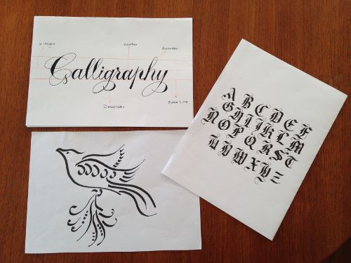 Calligraphy basics craft bound adult classes and