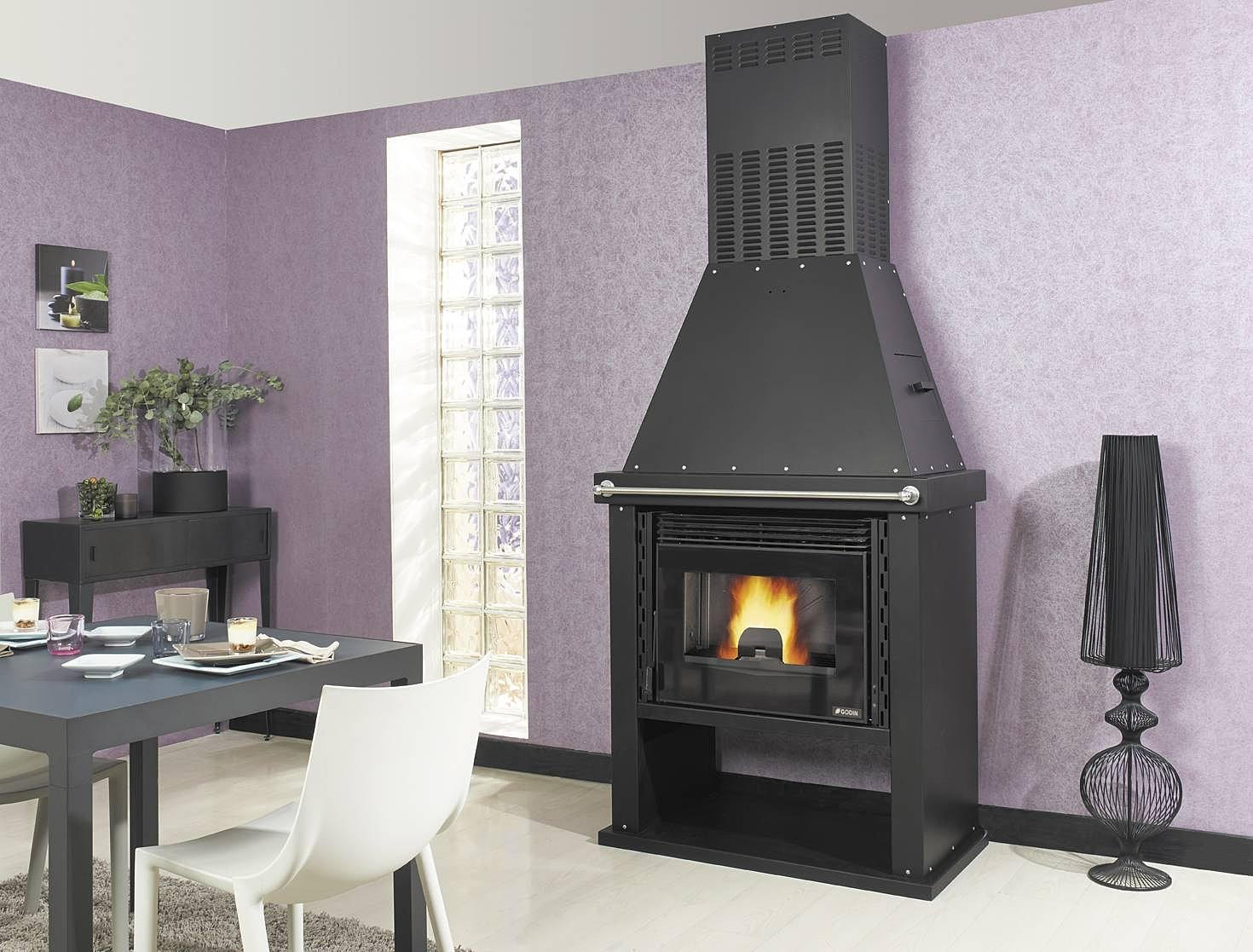 insert bois et granules. Black Bedroom Furniture Sets. Home Design Ideas