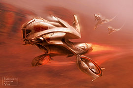 Human Fighter spaceship concept
