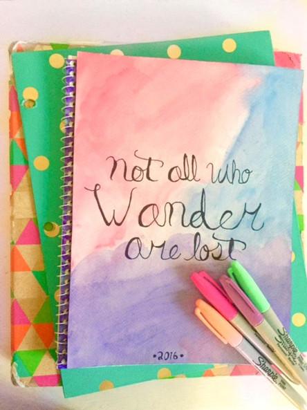 DIY Watercolor Notebook Missbellalore.comTeen Fashion Blogger