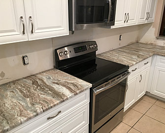 These Granite Kitchen Counter Tops Were Installed In West Palm Beach,  Florida. Quartzite Kitchen Countertops Fabricator