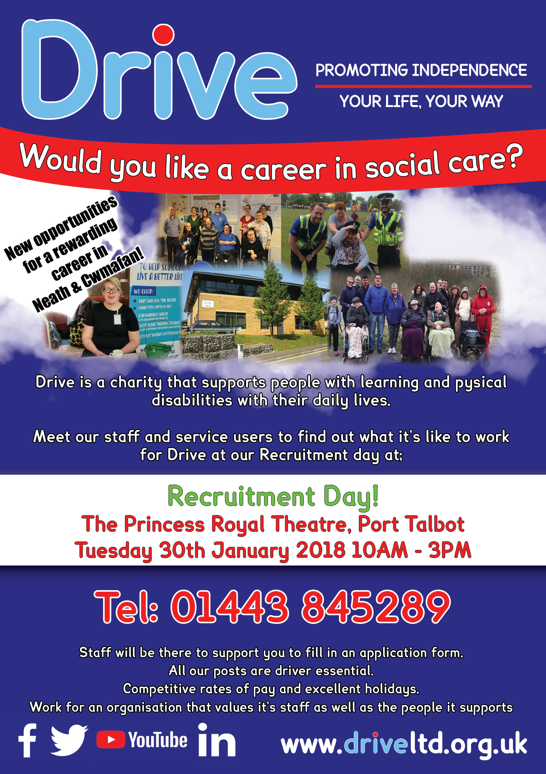 Recruitment day in the princess royal theatre in port talbot drive falaconquin