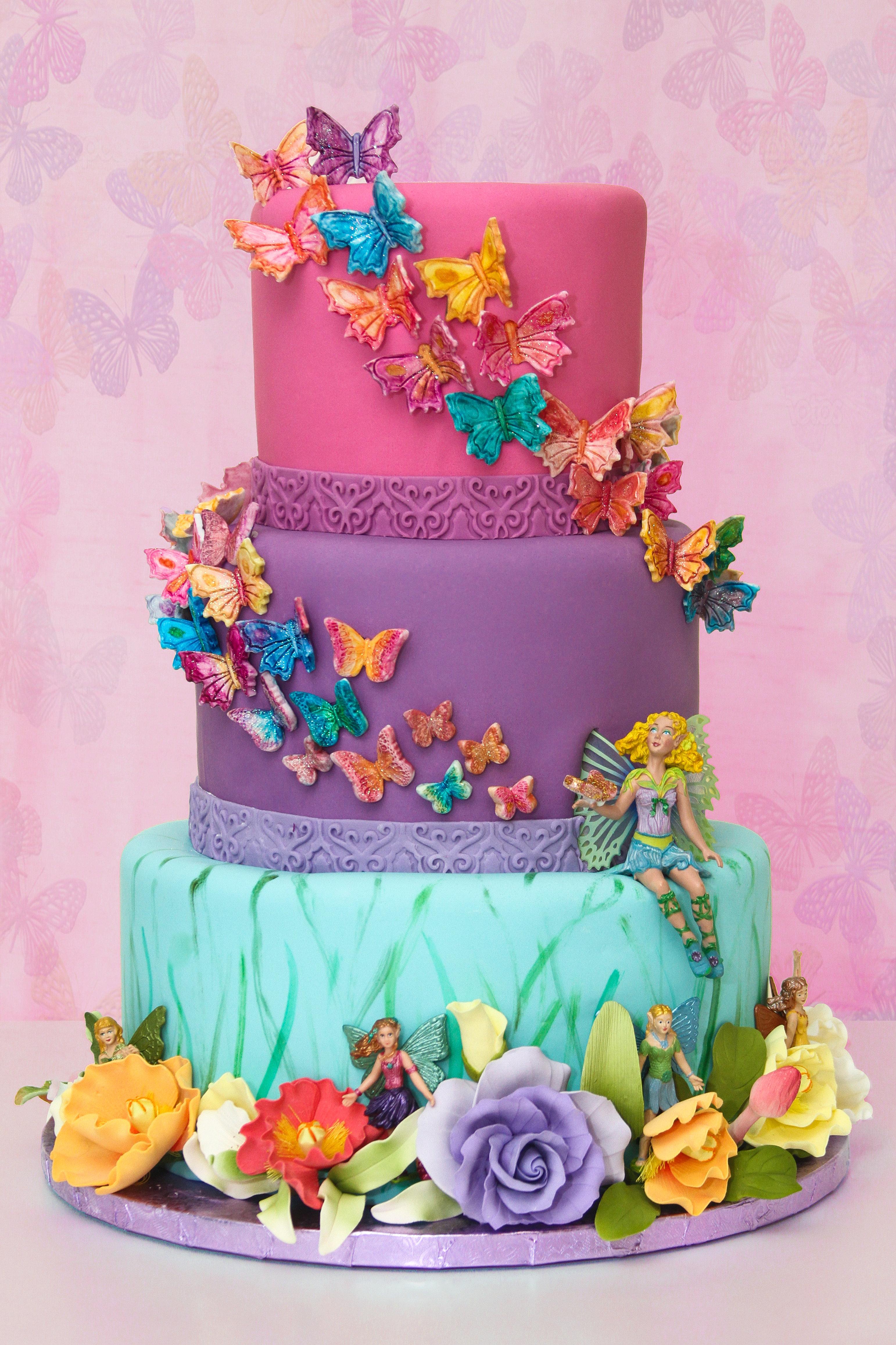 Butterfly Fairy Birthday Cakes
