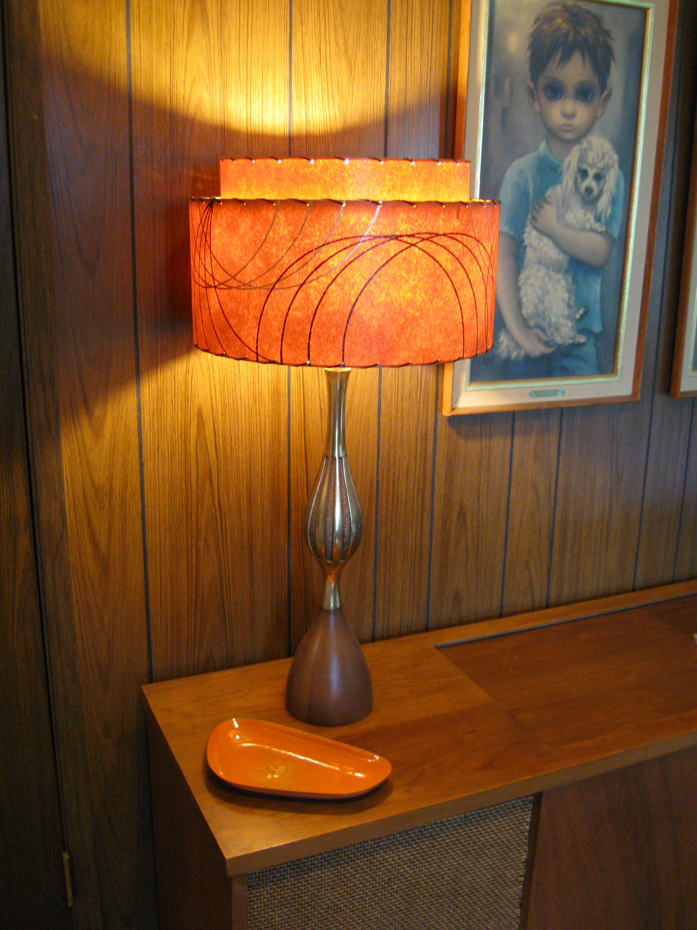 Orange lamp shades - Retromod Design Reproduction Fiberglass Lamp Shades Vintage Fiberglass Lamp Shades Burnt Orange