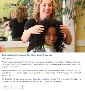 Innersense Organic Beauty interviews Dianne Nola, Curl Specialist