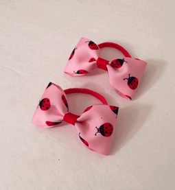Lady Bug Single Bow Hair Bands - Set of Two.png