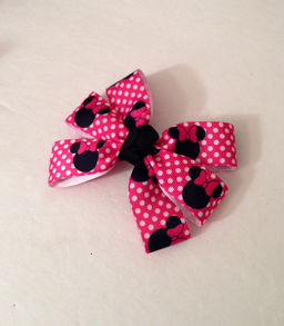Minnie Mouse French Knot Hair Bow.JPG