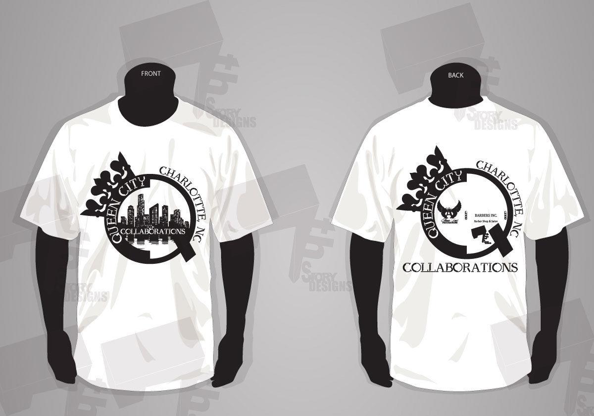 T shirt design on queen city - T_shirt_template Queen City Copy Jpg