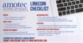 Amotec's Linkedin Check List
