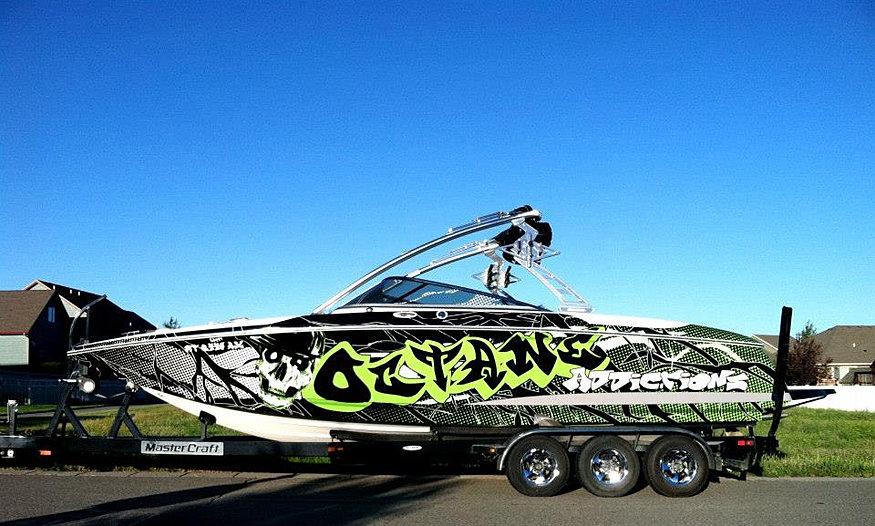 Octane Addictions Boat Wrap