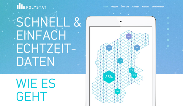 Landingpage für ein Start-up