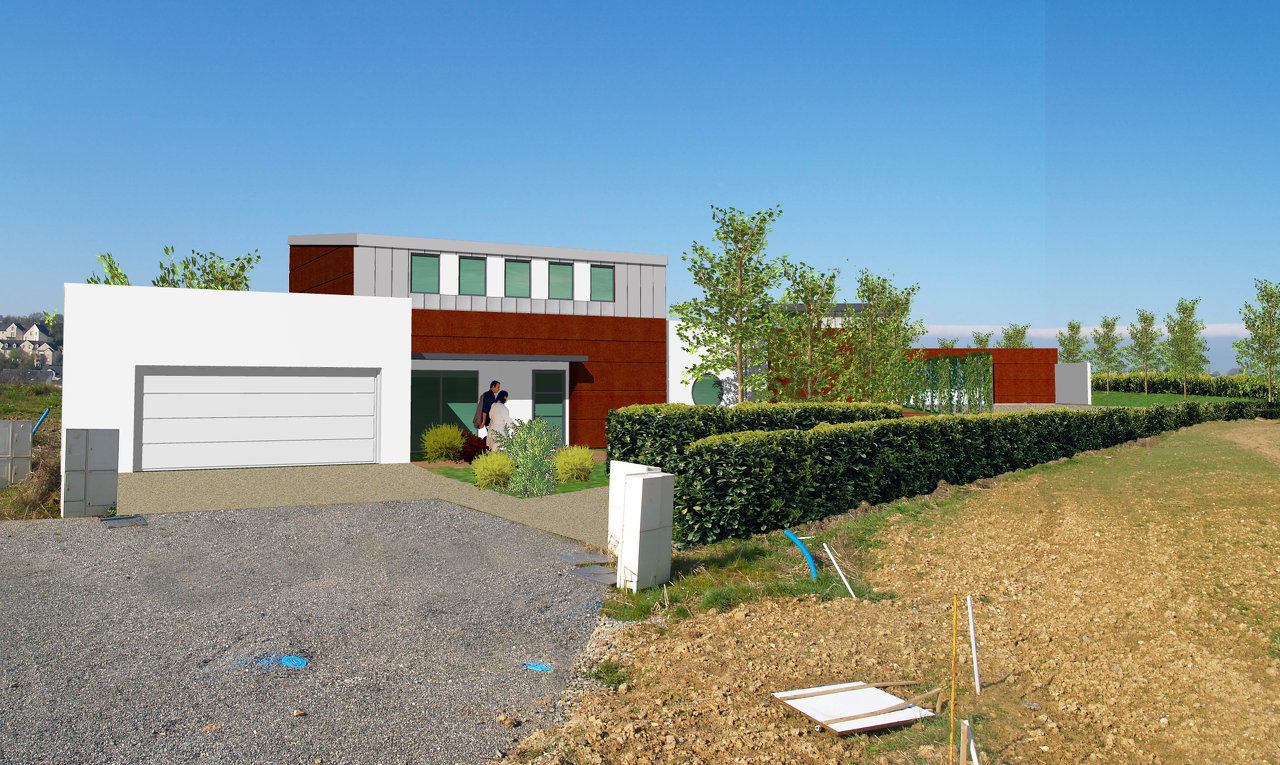 Maison charpente metallique maison en ossature mtallique for Architecte 3d combles