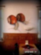 Fotorealistisches Airbrush von Weinbergschnecken auf Wand