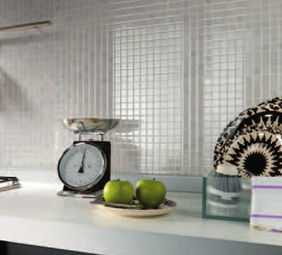 atlas concorde mode white effetto mosaico bianco | metroquadro ... - Rivestimento Cucina Mosaico