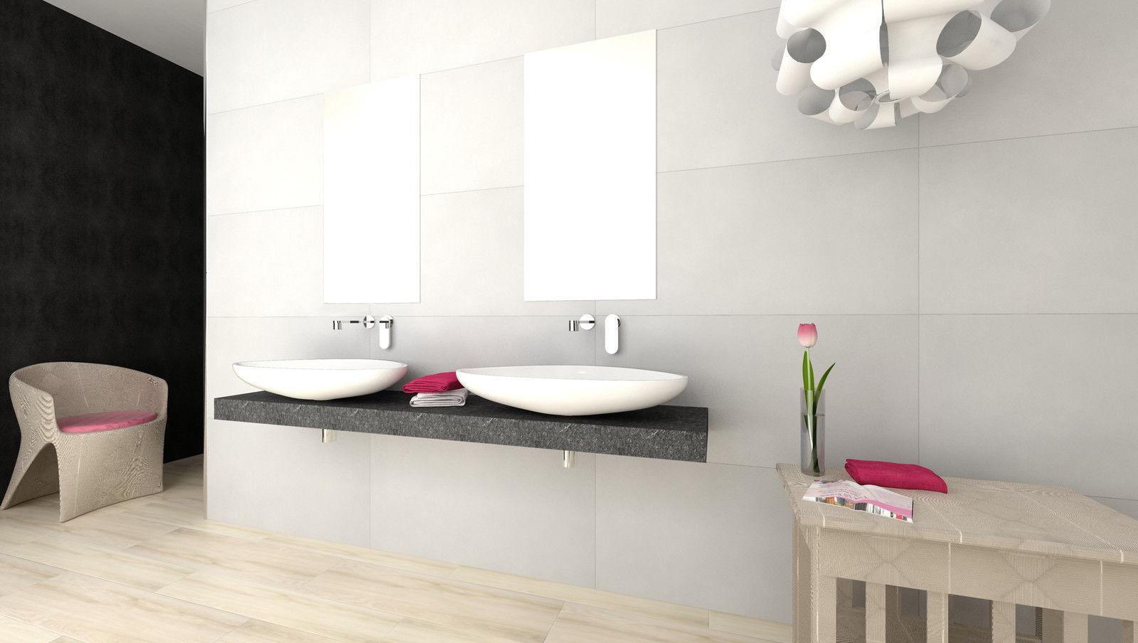 Lavabo grande per lavanderia - Piastrelle bagno verde chiaro ...
