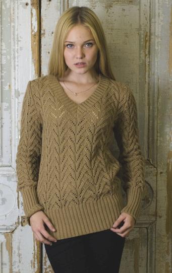ажурный свитер женский спицами схемы и описание