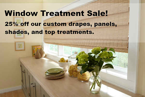 Window Treatment Sale Near Wausau, WI Custom Drapes, Panels, Shades And Top  Treatments