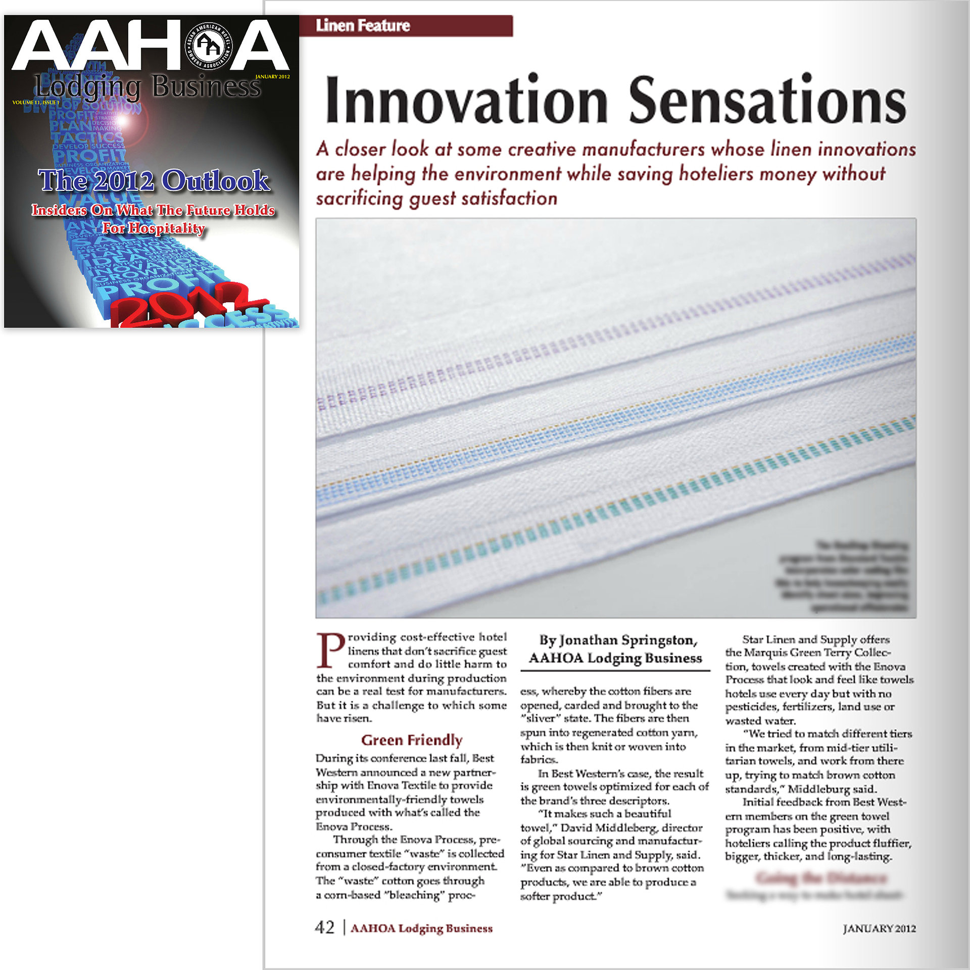 AAHOA Magazine Jan'12 Linen Feature
