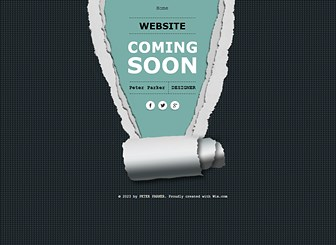 In Kürze verfügbar - Einseitige Vorlage Template - Gestalten Sie diese einseitigen Vorlage, um Ihre Kunden darüber zu informieren, dass Ihre Website bald fertig ist! Einfach Hintergrund und Farben ändern und Links zu sozialen Netzwerken hinzufügen. Die perfekte Möglichkeit online zu gehen und sofort eine vollständige Onlinepräsenz zu haben!
