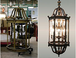 We Restore Antique Church Lighting