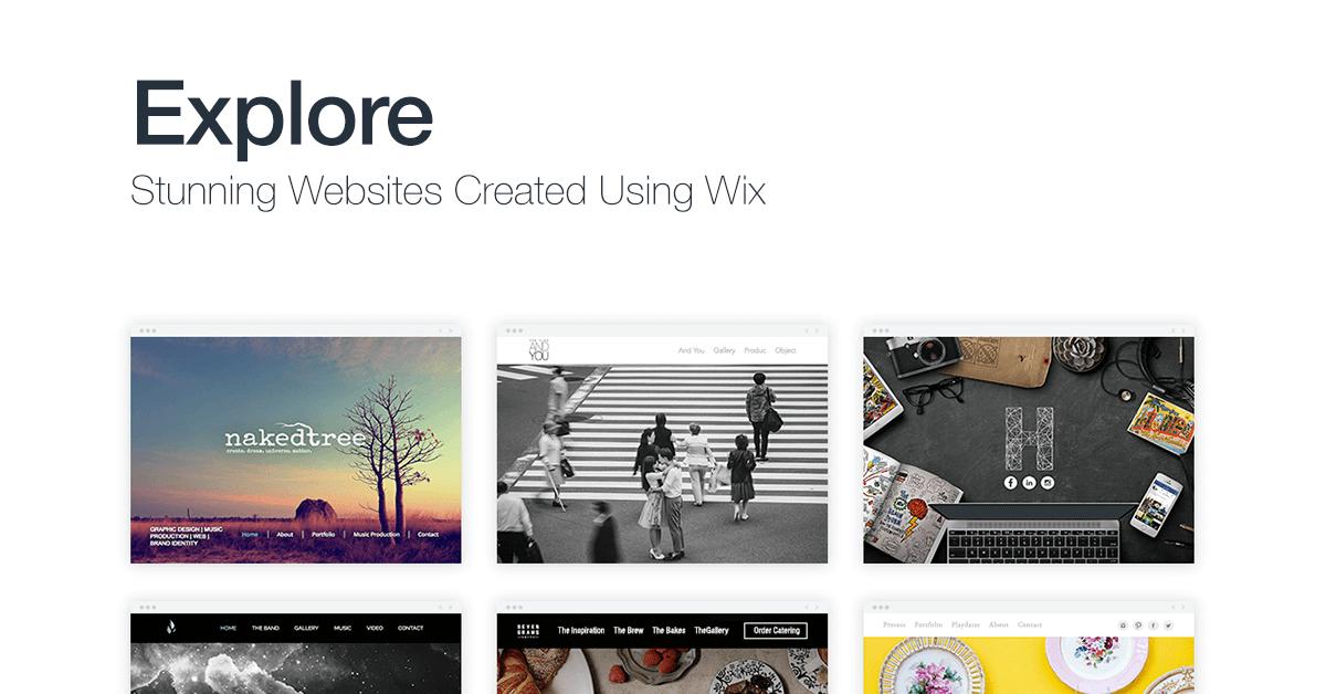 explore wix website examples