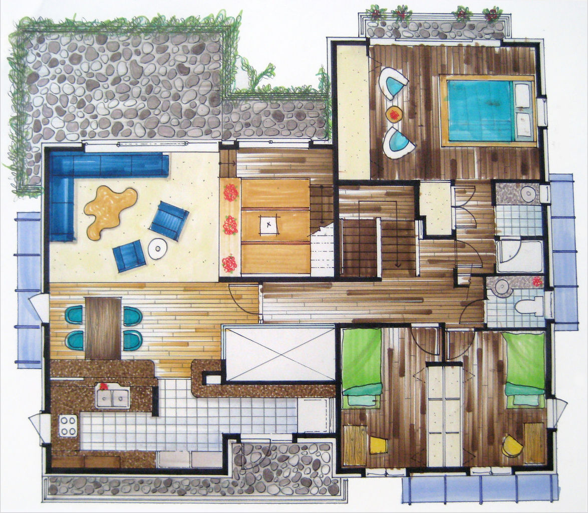 Portfolio1 created by esherwin based on blank for Rendered floor plan