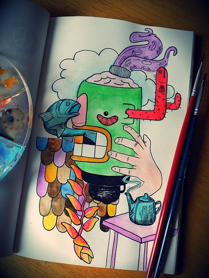 Green sketchbook - illustration - ivandisimoni | ello