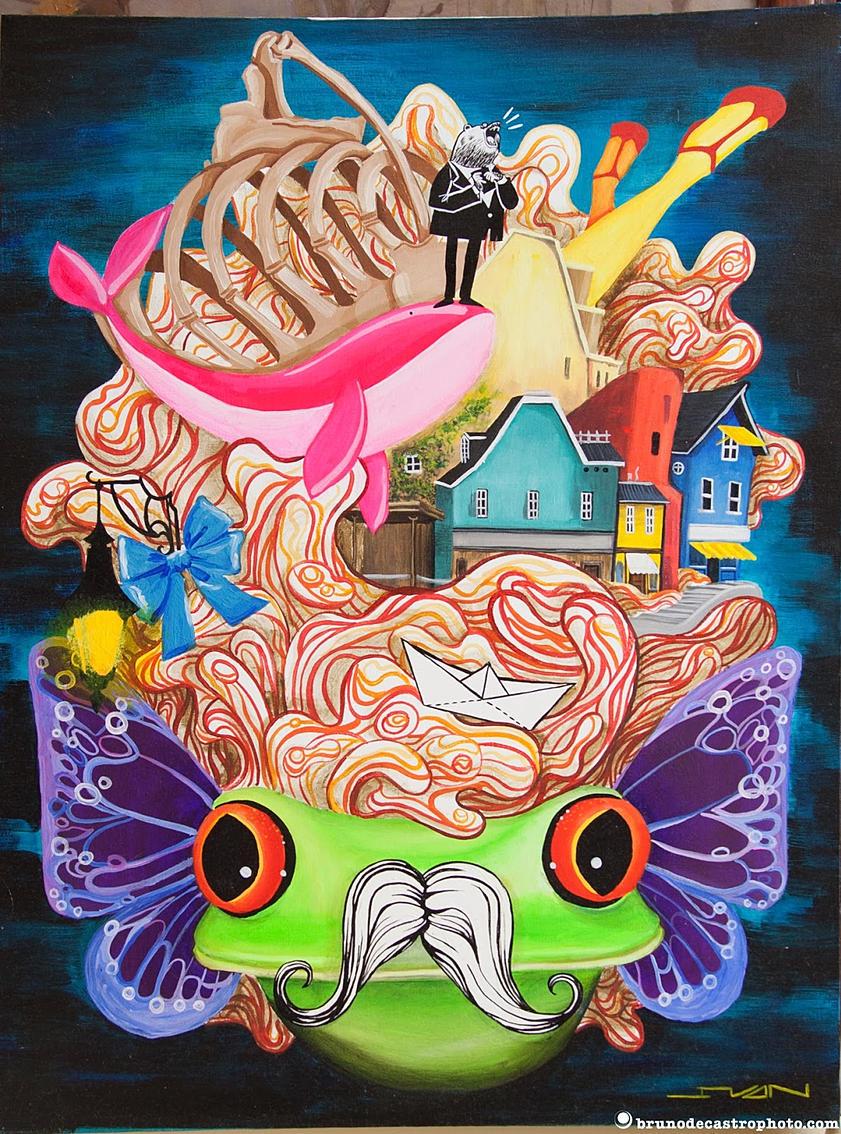 Antoinette Frog - illustration, conceptart - ivandisimoni   ello