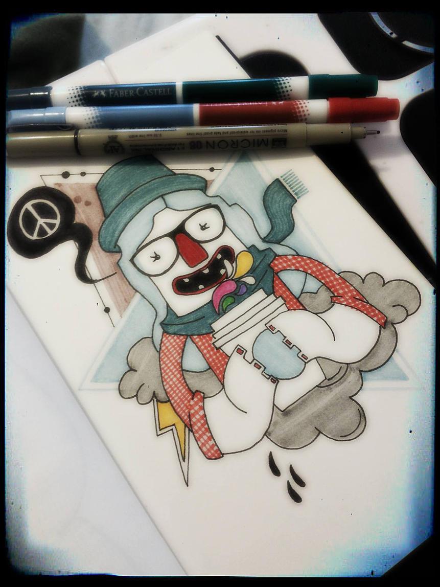 Bolivian starbucks sketchbook - illustration - ivandisimoni | ello