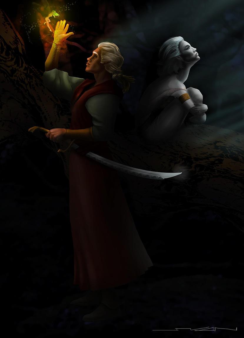 Elves fairy Digital painting - illustration - ivandisimoni | ello
