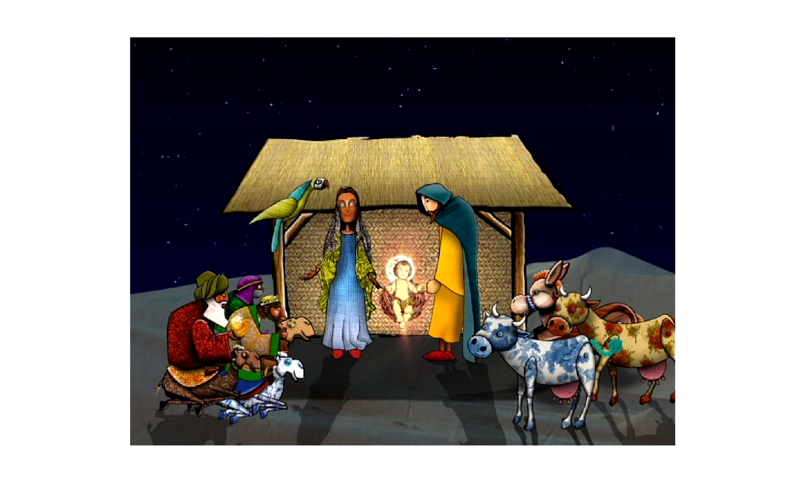 Nativity scene - illustration, characterdesign - ivandisimoni | ello