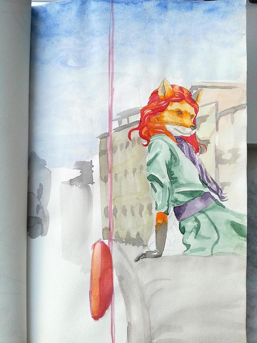 FOX sketchbook - illustration, drawing - ivandisimoni | ello