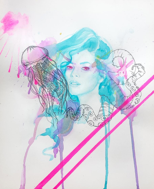 Pisces watercolor paper - illustration - ivandisimoni   ello