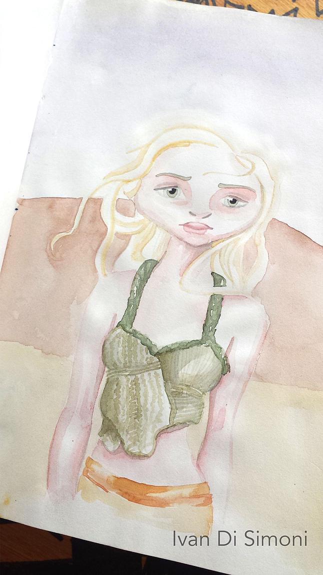 Daenerys sketchbook - illustration - ivandisimoni | ello