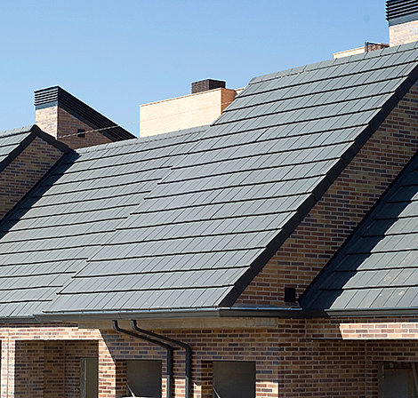 Northern roof tiles for Flat tile roof