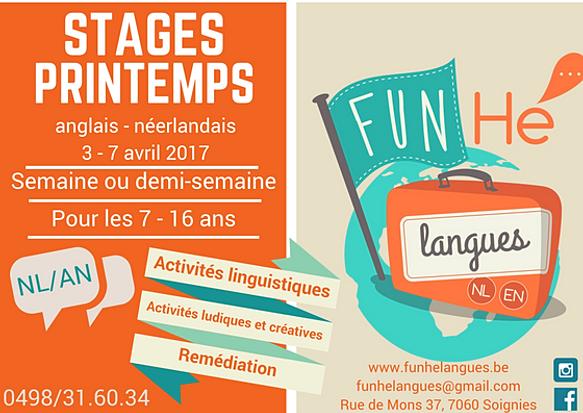 Funh langues apprendre les langues diff remment - Job vacances toussaint ...