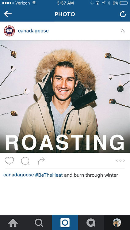 canada goose instagram