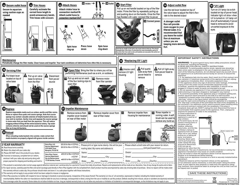 Brands With D >> Cascade Aquarium Filter Instructions